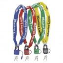 Chaîne Master Lock 8390EURDPRO de couleur bleue, rouge, verte et jaune