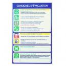 Consignes évacuation