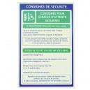 Consigne de sécurité pour espaces d'attente sécurisés