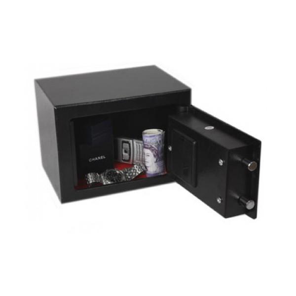 Coffre fort compact pour bureau domicile phoenix ss0721e for Serrure pour coffre fort