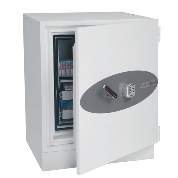 coffre fort ignifuge millennium duplex ds4641e capacit 233 109 litres ignifuge 2h et