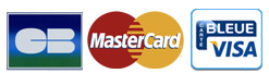 Paiement par Carte Bancaire, MasterCard, Visa, American Express, Carte Aurore, Carte Cofinoga, Carte Aurore et Paypal