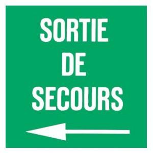 Panneau Sortie de Secours plexiglas Flèche Gauche 200 x 200mm