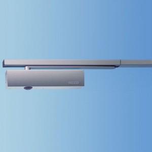 Ferme-porte avec rail de guidage Geze double portes