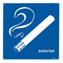 Panneau PVC Cigarette Autorisée 200 x 200mm