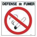 Panneau PVC Cigarette Barrée et Défense de Fumer 300 x 300mm
