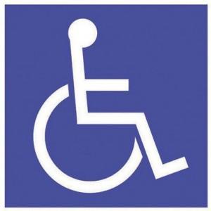 Panneau PVC Handicapés 150 x 150mm