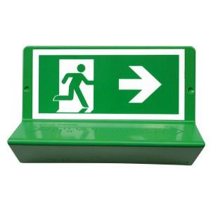 Signalisation en braille « Evacuation à droite »