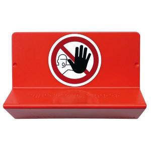 Panneau de signalisation en braille « Accès interdit »