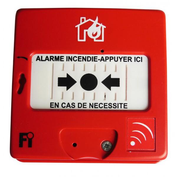 d clencheur manuel d 39 alarme incendie type 4 radio. Black Bedroom Furniture Sets. Home Design Ideas