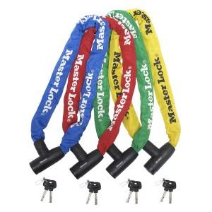 Chaîne Master Lock 8391EURDPRO de couleur bleue, rouge, verte et jaune