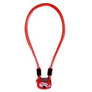 Câble Master Lock 8213EURDPRO de couleur rouge