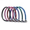 Câble Master Lock 8631 de couleur noire, rose, rouge, bleu clair, vert et bleu foncé