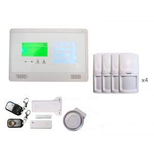 Alarme sans fils intrusion GSM Ellie avec menu de navigation 4 à 5 pièces