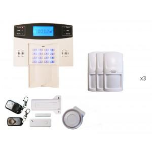 Alarme sans fils intrusion sur ligne téléphonique Adèle 3 à 4 pièces