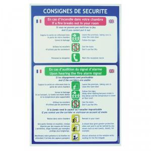 Consignes hôtel 2 langues
