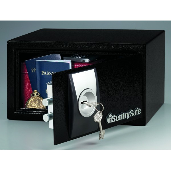 coffre fort sentry safe x031 capacit 10 litres avec serrure clef. Black Bedroom Furniture Sets. Home Design Ideas