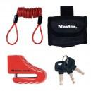 Bloc disque Master Lock 8304EURDPS avec corde de rappel et sac de transport