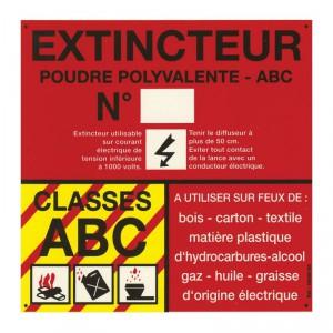 Panneau PVC Classe de Feu ABC 120 x 120mm