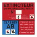Panneau PVC Classe de Feu AB 200 x 200mm